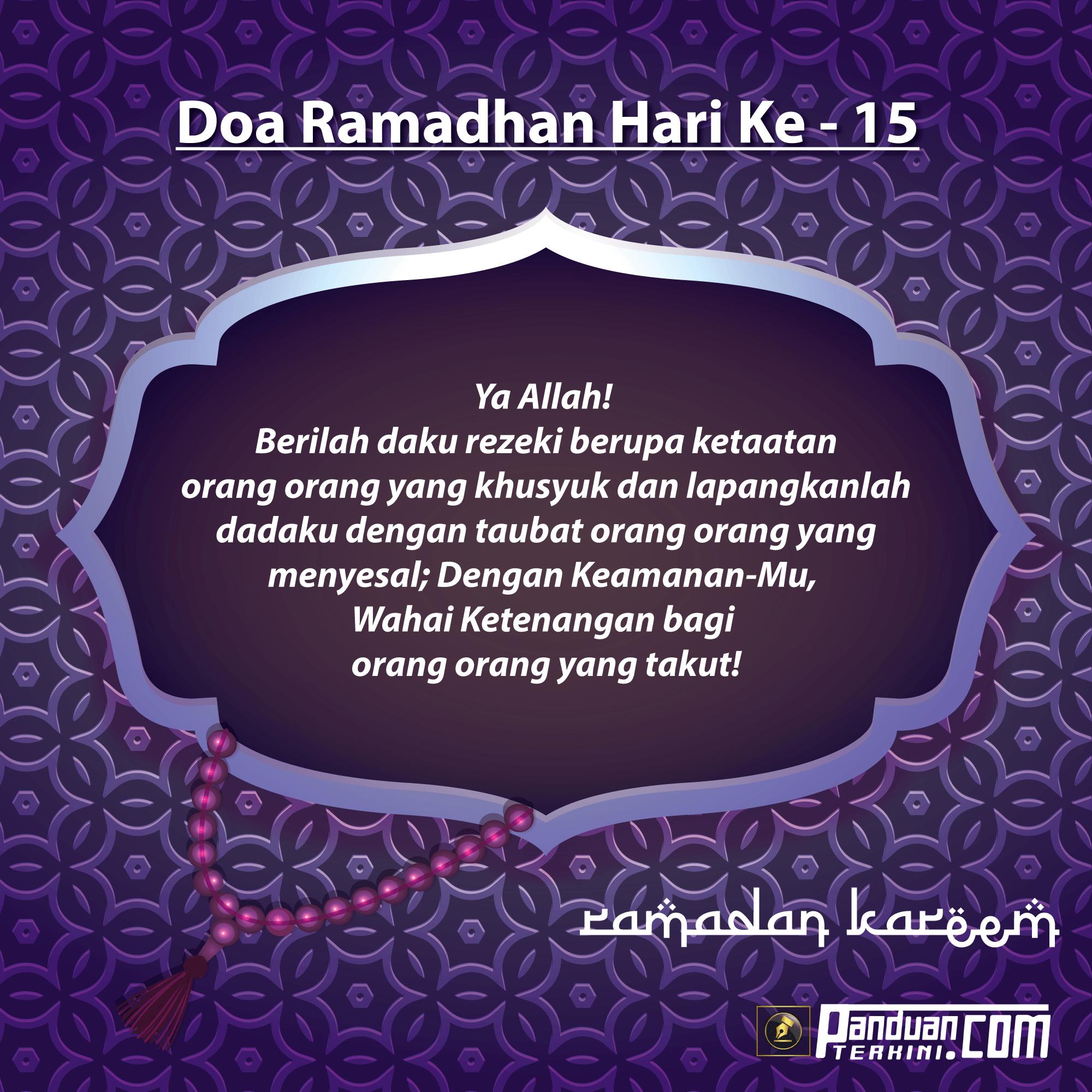 Doa Ramadhan Hari Ke-15
