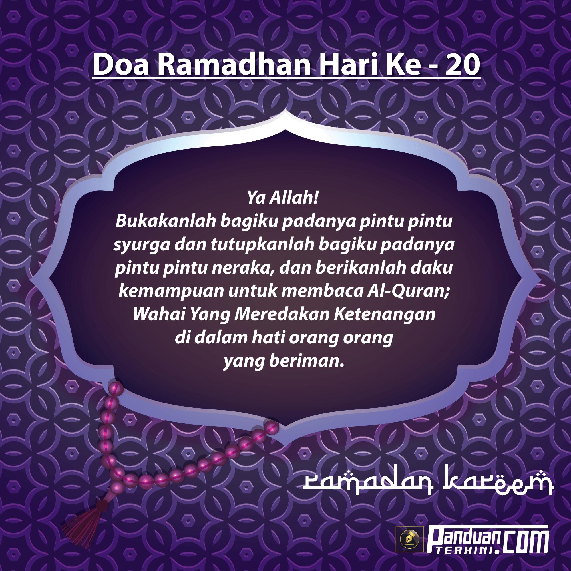 Doa Ramadhan Hari Ke-20