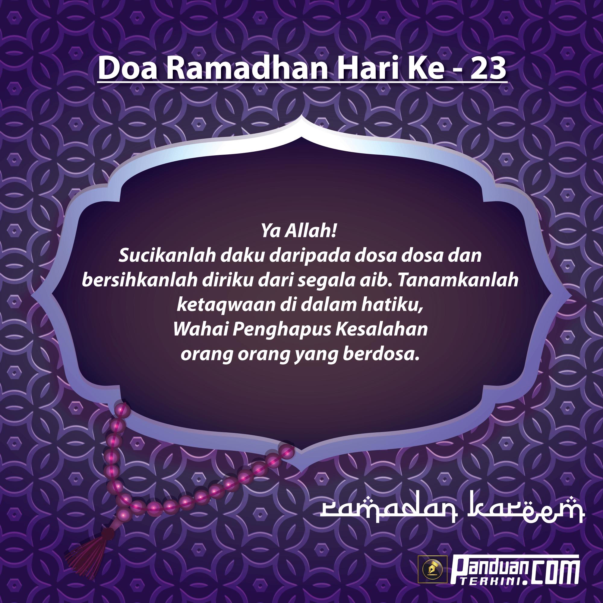 Doa Ramadhan Hari Ke-23