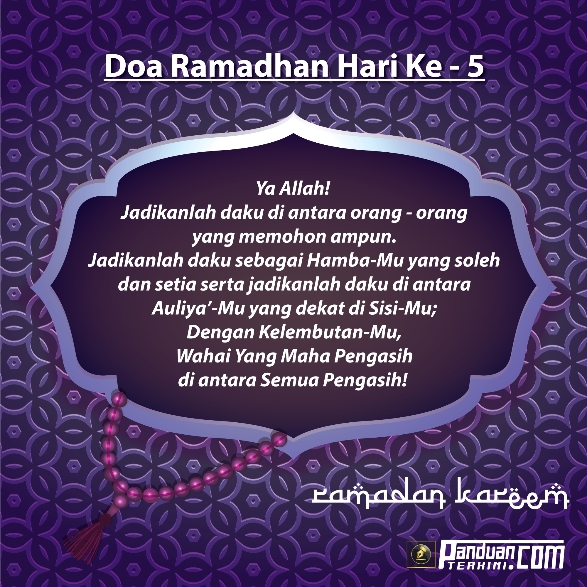 Doa Ramadhan Hari Ke-5